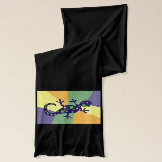 カラフルなヤモリの芸術 スカーフ