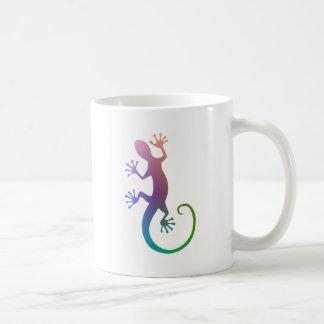 カラフルなヤモリ コーヒーマグカップ