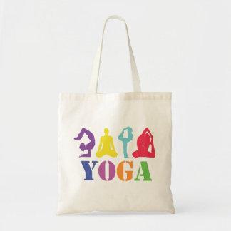 カラフルなヨガのデザインのバッグ トートバッグ