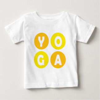 カラフルなヨガのレタリング ベビーTシャツ
