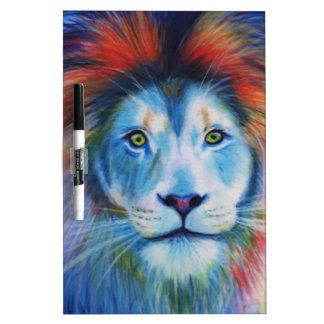 カラフルなライオン ホワイトボード