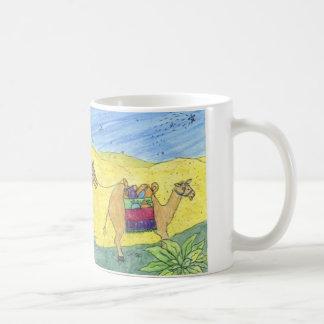 カラフルなラクダ コーヒーマグカップ