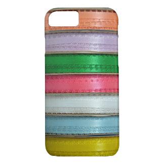 カラフルなリボンのプリントのiphoneのウォレットケース iPhone 8/7ケース