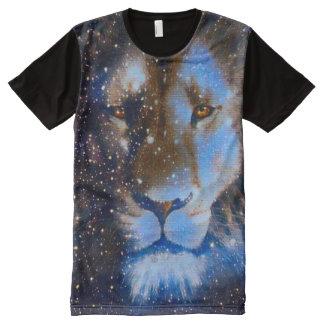 カラフルなレオの(占星術の)十二宮図の精神の動物のファンタジーの芸術 オールオーバープリントT シャツ