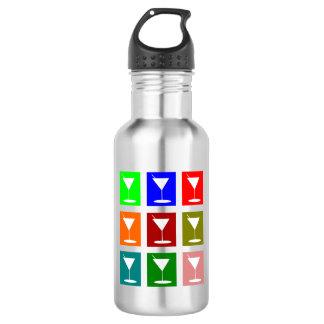 カラフルなレトロのカクテルグラス ウォーターボトル