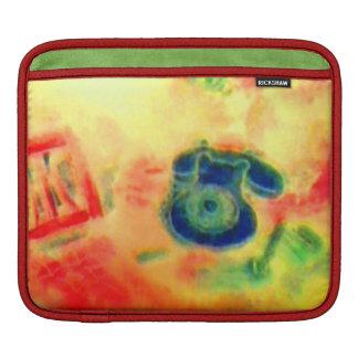 カラフルなレトロの上品で粋ないくじなしの電話 iPadスリーブ