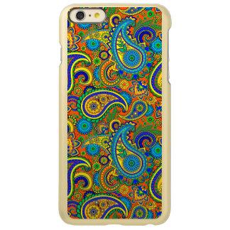 カラフルなレトロの花のヴィンテージのペイズリー2 INCIPIO FEATHER SHINE iPhone 6 PLUSケース