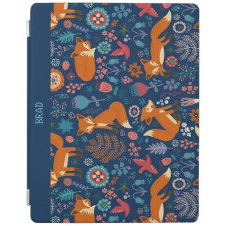 カラフルなレトロは鳥及び花模様を孤色に変色させます iPadスマートカバー