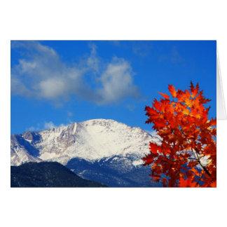 カラフルなロッキー山脈の落下時間 グリーティングカード