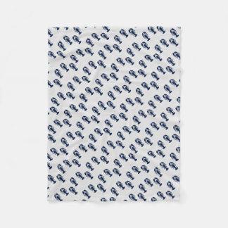 カラフルなロブスターのプリントの沿岸Crustacean毛布 フリースブランケット