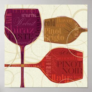 カラフルなワイン ポスター