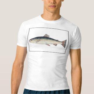 カラフルなヴィンテージのサケの絵 Tシャツ
