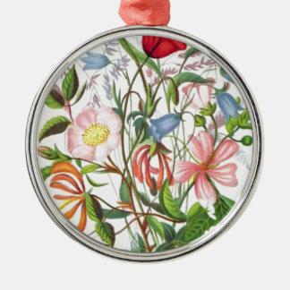 カラフルなヴィンテージの花束の芸術 メタルオーナメント