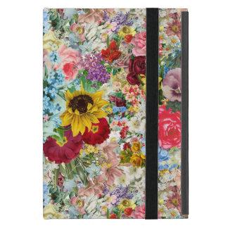 カラフルなヴィンテージの花柄 iPad MINI ケース
