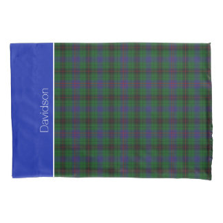 カラフルな一族のデイヴィッドソンのタータンチェック格子縞の枕箱 枕カバー