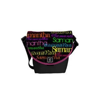 カラフルな一流のコラージュのバッグ メッセンジャーバッグ