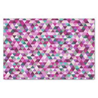 カラフルな三角形の芸術パターン 薄葉紙