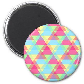 カラフルな三角形パターン マグネット