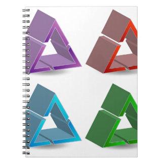 カラフルな三角形 ノートブック