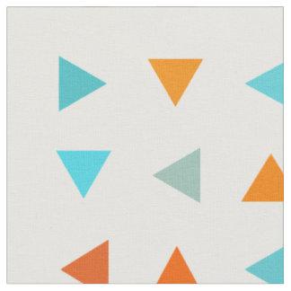 カラフルな三角形 ファブリック