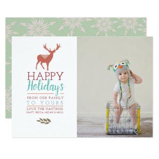 カラフルな休日|の写真の休日カード カード