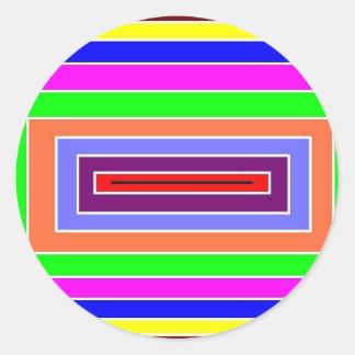 カラフルな光学効果 ラウンドシール
