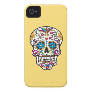 カラフルな入れ墨のスカル、黄色いiPhone 4/4s Case-Mate iPhone 4 ケース