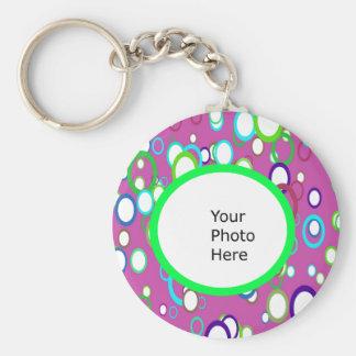 カラフルな写真Keychain キーホルダー