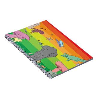 カラフルな創造物 ノートブック