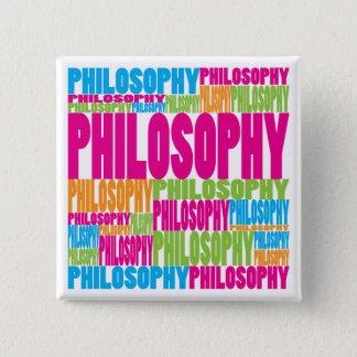 カラフルな哲学 5.1CM 正方形バッジ