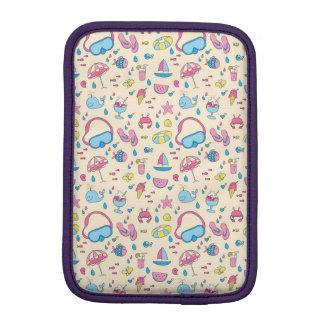 カラフルな夏期休暇のビーチパターン iPad MINIスリーブ