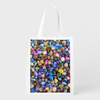 カラフルな多彩の小石 エコバッグ