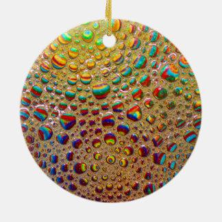 カラフルな多彩の石鹸の泡の芸術 セラミックオーナメント