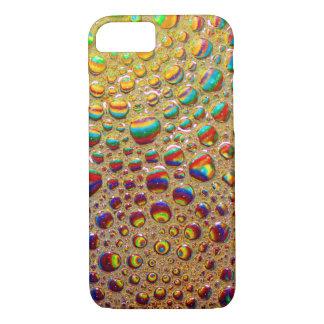カラフルな多彩の石鹸の泡の芸術 iPhone 7ケース