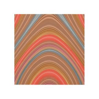 カラフルな多線パターン ウッドウォールアート