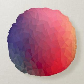 カラフルな多角形パターン円形の装飾用クッション ラウンドクッション