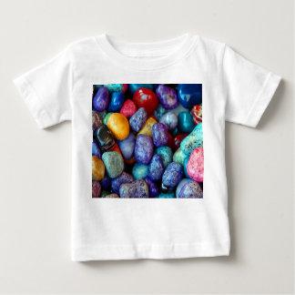 カラフルな大理石の小石 ベビーTシャツ