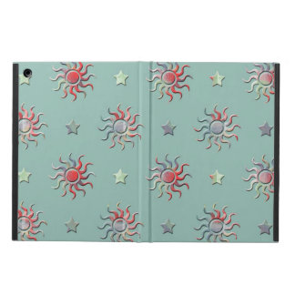 カラフルな太陽および星のデザイン iPad AIRケース