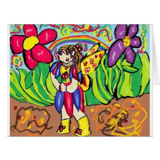 カラフルな妖精 カード