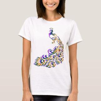 カラフルな孔雀 Tシャツ