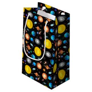 カラフルな宇宙天文学の宇宙のギフトバッグ スモールペーパーバッグ