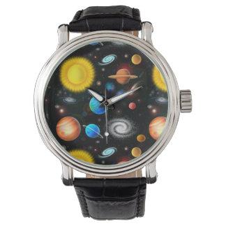カラフルな宇宙天文学の腕時計 腕時計