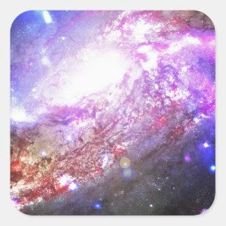 カラフルな宇宙 スクエアシール