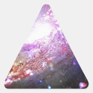 カラフルな宇宙 三角形シール