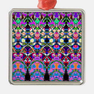カラフルな対称の抽象芸術 メタルオーナメント