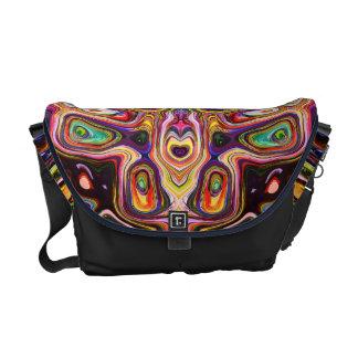 カラフルな形の抽象芸術 メッセンジャーバッグ