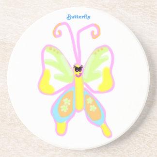 カラフルな微笑の蝶コースター コースター