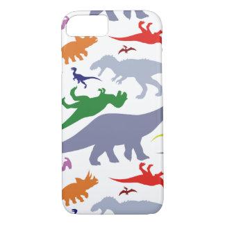 カラフルな恐竜パターン(ライト) iPhone 8/7ケース
