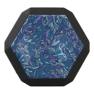 カラフルな手描きの抽象的なパターンデザイン ブラックBluetoothスピーカー