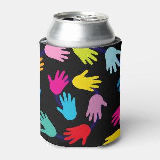 カラフルな手 缶クーラー